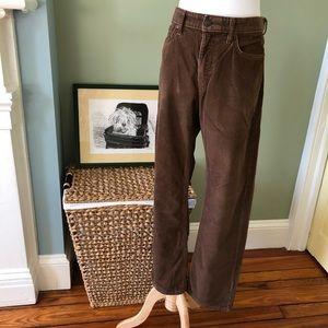 Eddie Bauer Straight Fit Brown Corduroy Pants